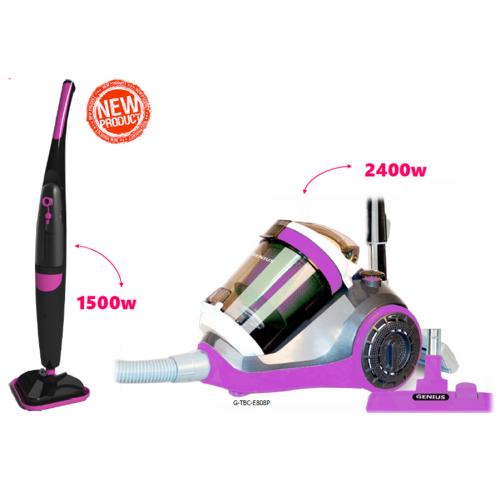 2 in 1 1500w Steam Mop & 2400w Bagless Vacuum Cleaner